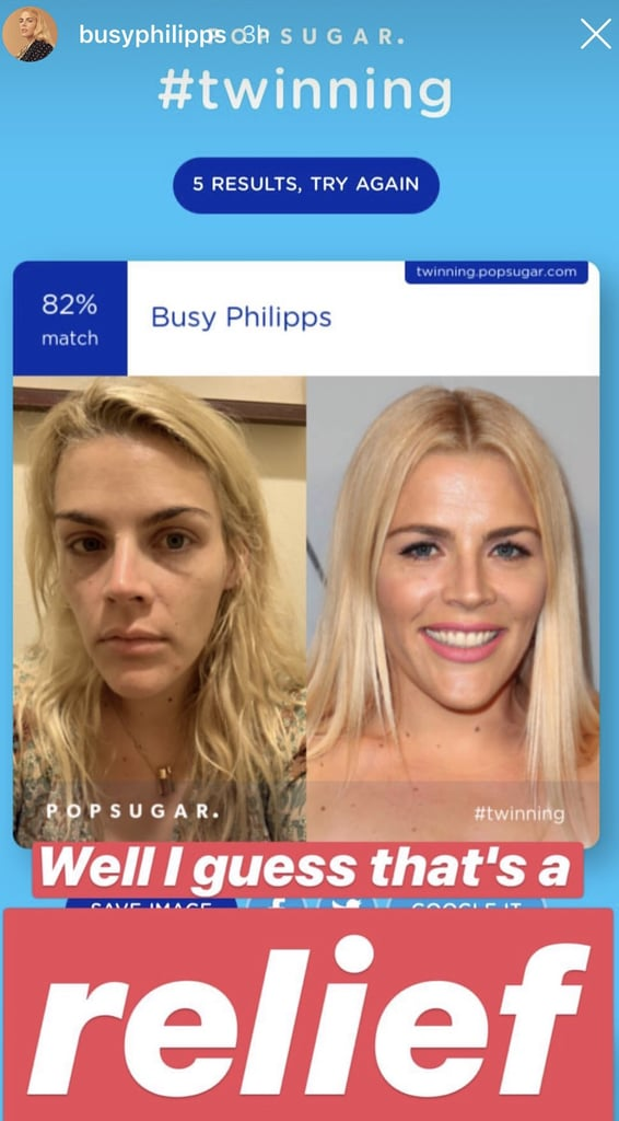 Busy Philipps was relieved to match with herself.