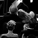 Meryl Streep cuddled up to her husband, Don Gummer.