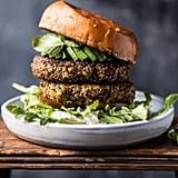 Roasted Zucchini Burgers With Garlic Whipped Feta