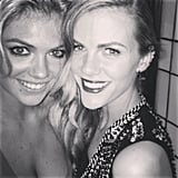 Kate Upton and Brooklyn Decker met up in the restroom. Source: Instagram user brooklynddecker