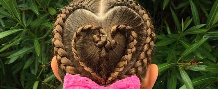 """Lovely Hairstyles Your Daughter Will """"Heart"""" This Valentine's Day"""