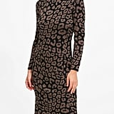 Metallic Leopard Sweater Dress