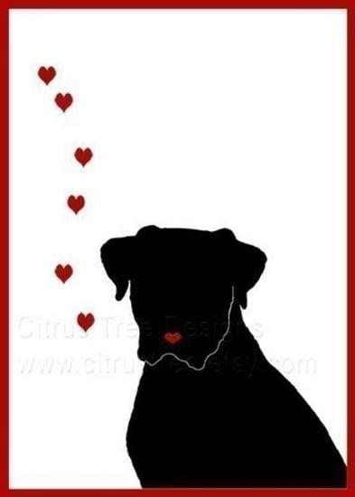 I LOVE YOU DOGGIE   Original Illustration Greeting by CitrusTree ($5)