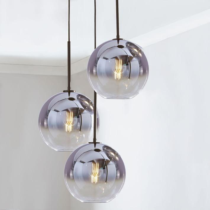 Sculptural Glass Globe 3 Light Chandelier Mixed | Glass