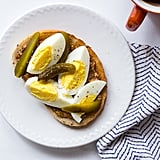 Hard-Boiled Egg and Pickle Toast