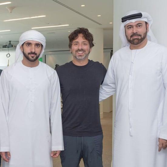 الشيخ حمدان يلتقي بمؤس غوغل سيرجي برين في دبي