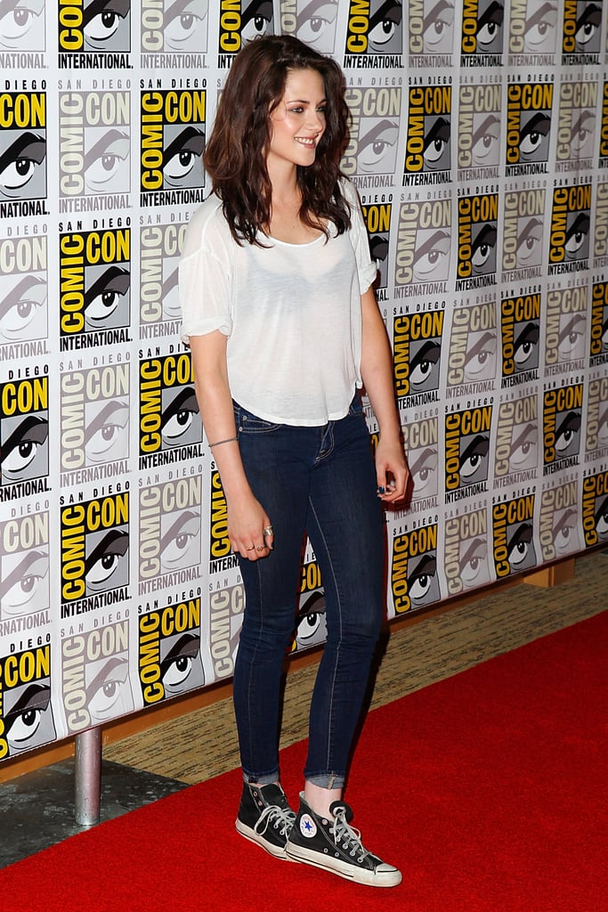 Kristen Stewart kept it casual in sneakers in 2011.