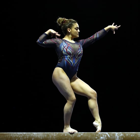 Laurie Hernandez Wore a Captain Marvel-Inspired Leotard