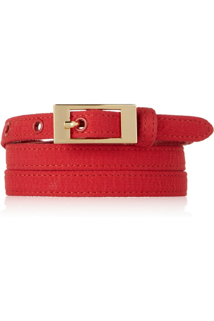 Oscar de la Renta for The Outnet crinkle-crepe leather belt ($150)