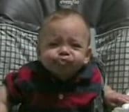 Baby Tastes Pear For the First Time