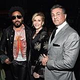 Pictured: Jane Fonda, Lenny Kravitz, and Sylvester Stallone