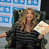 Sarah Chalke got animated while reading to the kids.