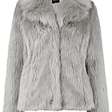 Oasis Grey Fur Collared Coat ($140)