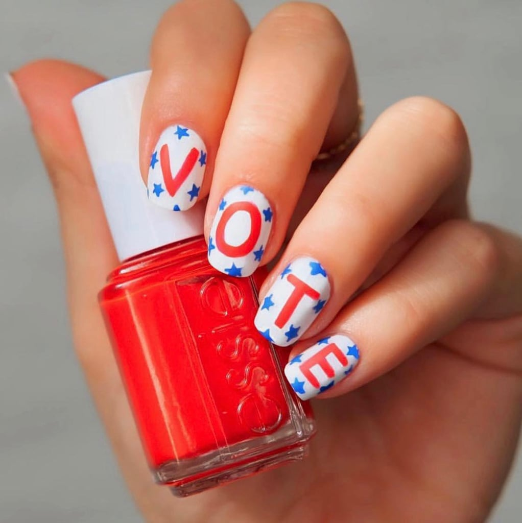 "Nail Art Videos Instagram: The Coolest ""Vote"" Themed Nail Art To Hit Instagram"