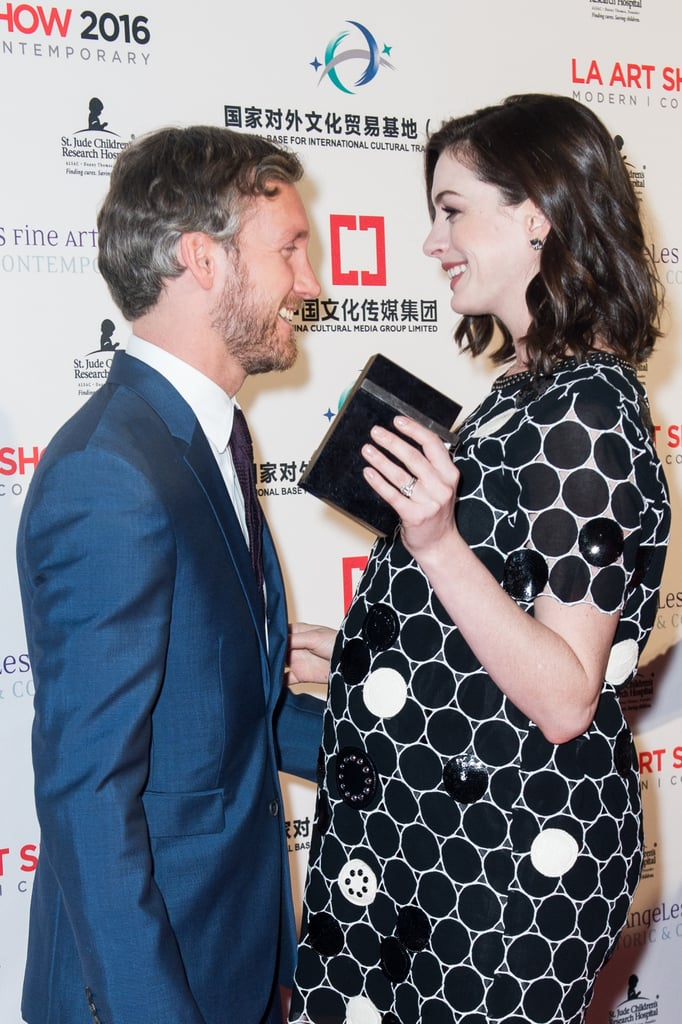 Anne Hathaway's Latest Red Carpet Is a Baby-Bump Debut and Date Night All at Once