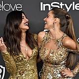 Pryianka Chopra and Sofia Vergara were thick as thieves at the InStyle and Warner Bros. afterparty in 2017.