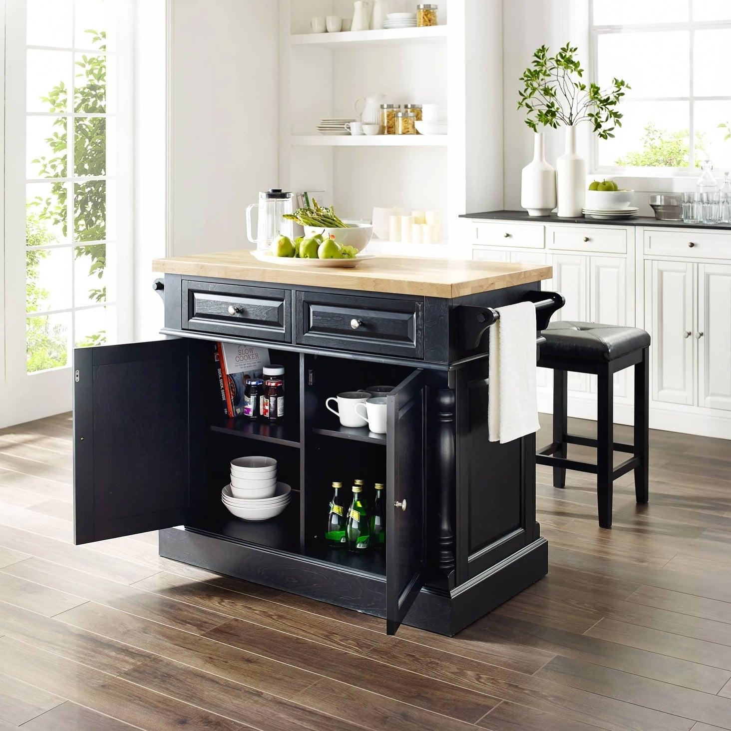 Oxford Butcher Block Top Kitchen Island Keep Your Kitchen