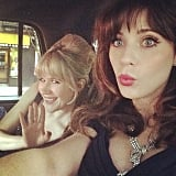 Zooey Deschanel snapped a selfie with her friend Tennessee Thomas on the way to the gala. Source: Instagram user zooeydeschanel