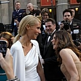 Gwyneth Paltrow and Kristen Wiig couldn't help but crack up together.