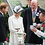 Meghan Markle and Prince Harry Presenting a Trophy 2018