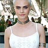 Cara Delevingne's Icy Blond Pixie Cut, 2017