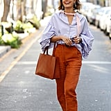 A Classic French Tuck With Statement Sleeves