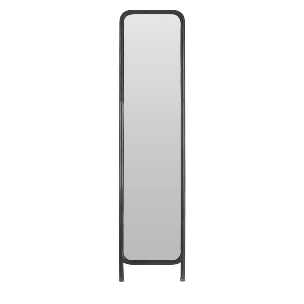 StyleWell Black Standing Mirror with Curved Edges