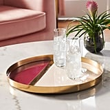 MoDRN Glam Multi Colored Decorative Tray
