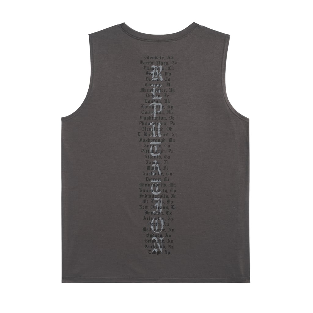 Dark Grey Tour Tank With Snake Design