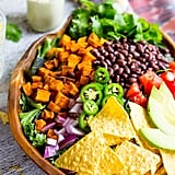 Sweet Potato Taco Salad with Pepper Greens and Jalapeno Ranch