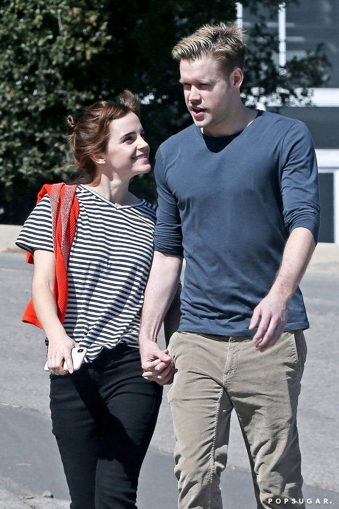 "Rumors recently swirled that Emma Watson and former Glee star Chord Overstreet are dating, and their romance was seemingly confirmed with a sweet stroll in LA on Thursday. The new couple were photographed walking hand in hand through a neighborhood and looked smiley and happy while chatting. They only barely broke contact when Emma took her sweater off, and then they joined hands again. We have no idea how these two crossed paths, but you have to admit that they do look pretty damn cute together.  Emma and Chord were first reported to be a ""thing"" when they were snapped on a date in early February, and again when they were filmed leaving the Vanity Fair Oscars afterparty around the same time.       Related:                                                                                                           16 Stars Who Have Fallen Under the Magical Spell That Is Emma Watson               Emma's prior relationships have been pretty under the radar; she has previously been linked to William ""Mack"" Knight, actor Roberto Aguire, and Oxford varsity rugby player Matthew Janney. In a 2014 interview, Emma revealed that she doesn't ""date people who are famous,"" but her new romance with Chord means she has probably changed her stance on that."