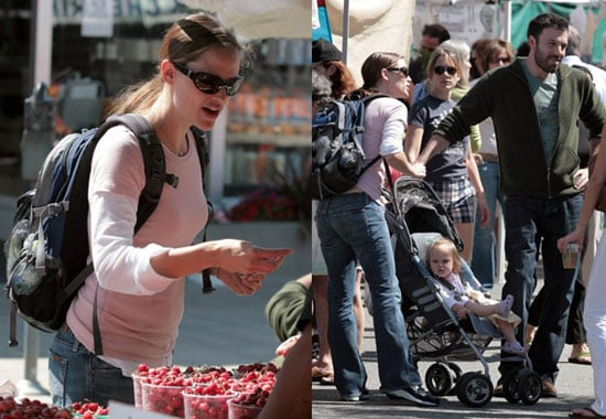 Ben, Jen & Violet Check Out What's in Season
