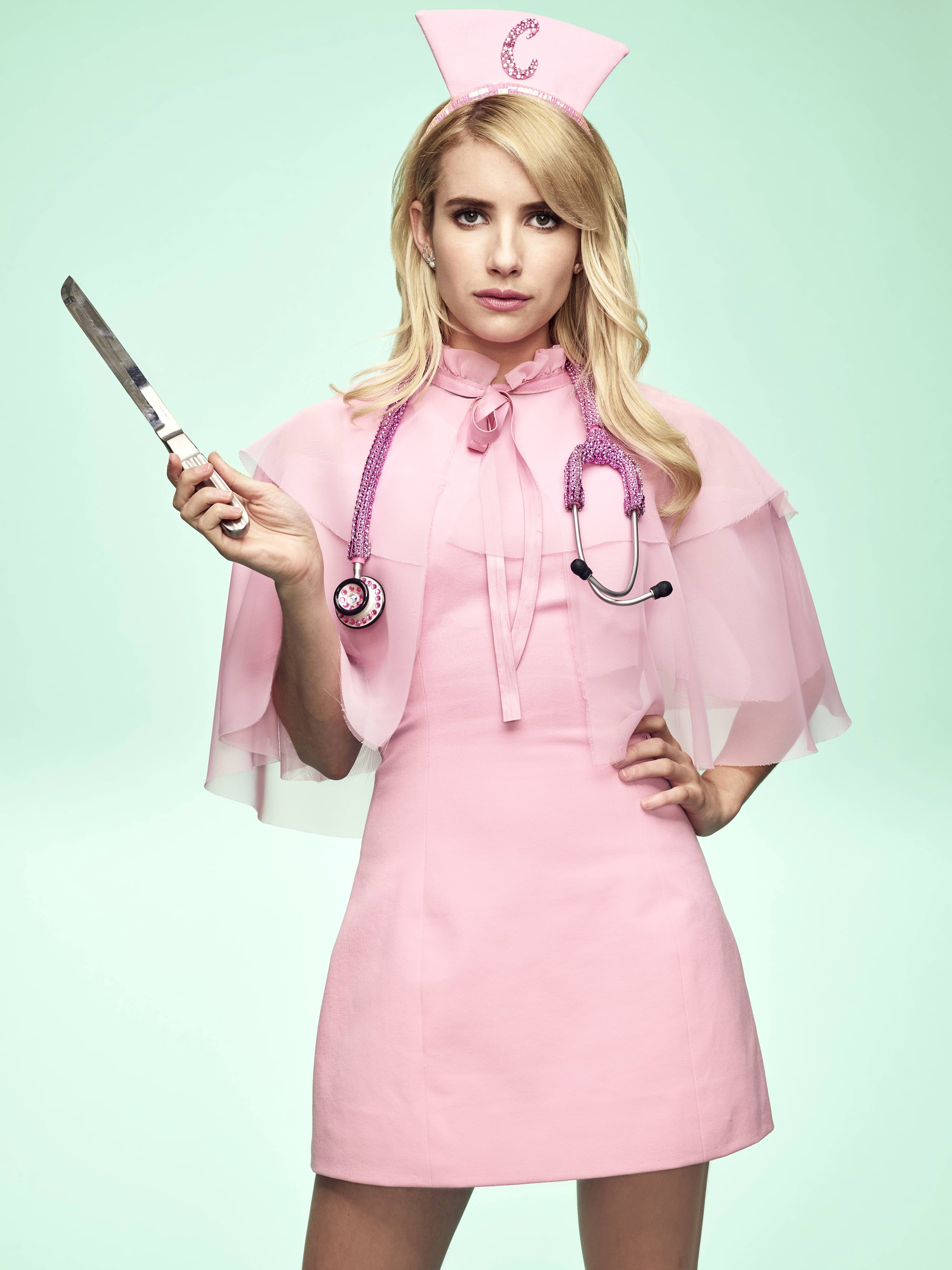 Emma Roberts As Chanel Oberlin Scream Queens Season 2 Looks Positively Freaky Popsugar Entertainment Photo 15
