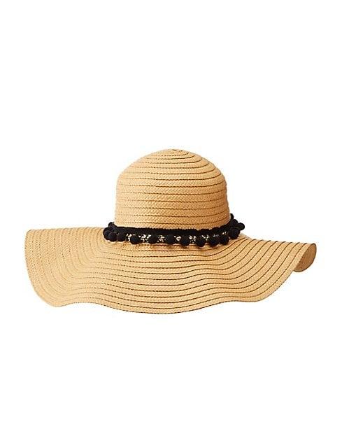 Charlotte Russe Embellished Floppy Straw Hat