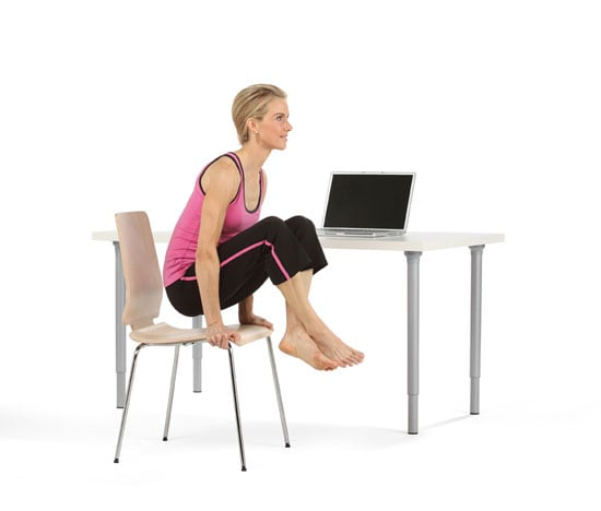 Scale Pose | Office Exercise: Yoga at Your Desk | POPSUGAR ...