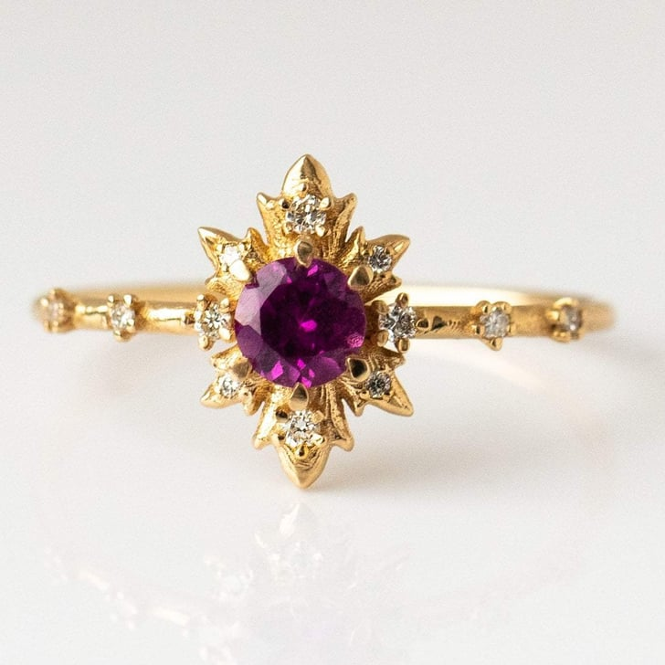 12 rings fashion dried flower round style jewelry