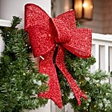 BrylaneHome Outdoor Pre-Lit Tinsel Bows
