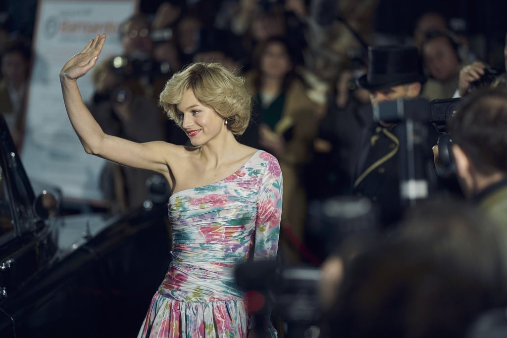 Princess Diana's One-Shoulder Gown on The Crown