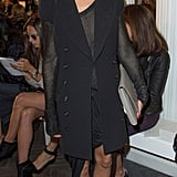 Olivia Palermo was sleek in a double-breasted duster at Emilia Wickstead.