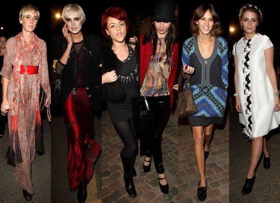 Photos Of Alexa Chung, Jaime Winstone, Daisy Lowe, Mischa Barton, Kim Stewart, Agyness Deyn at London Fashion Week