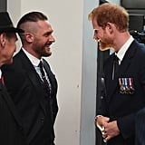 With Prince Harry at the Dunkirk London premiere in 2017.
