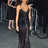 Melania's gilded black dress was superslinky at the 2004 CFDA Fashion Awards in New York.