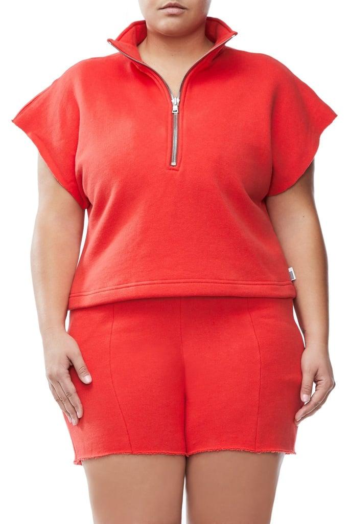 Good American Women's Good Sweats The Chunky Zip Pullover