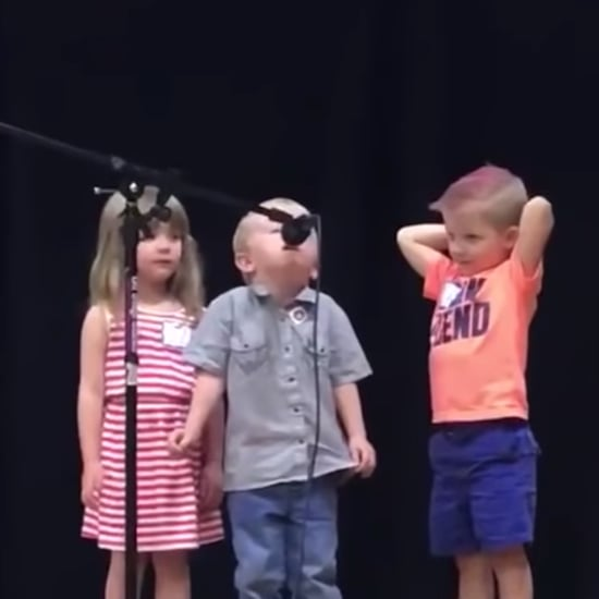 "Boy Sings Darth Vader ""Imperial March"" Song in Talent Show"