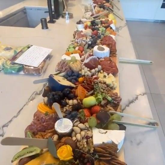 Chrissy Teigen's Massive 12-Foot Charcuterie Board | Photos