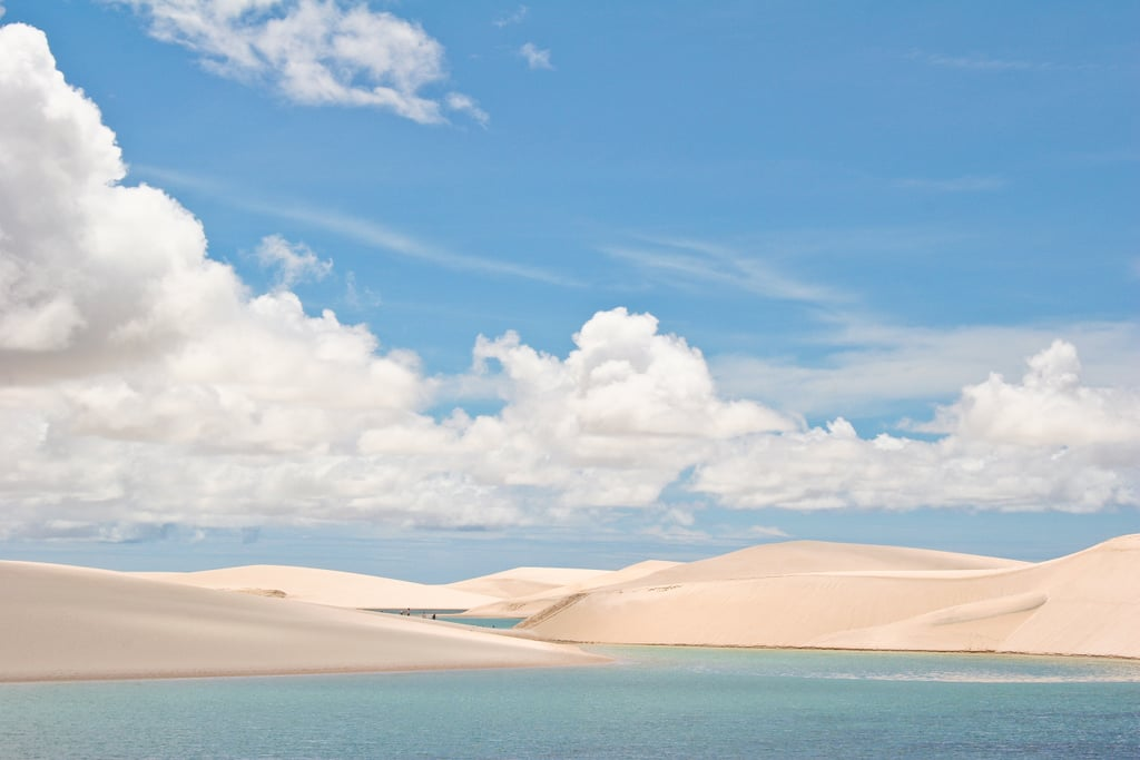 Swim in the sand dune lakes of Brazil after rainy season.