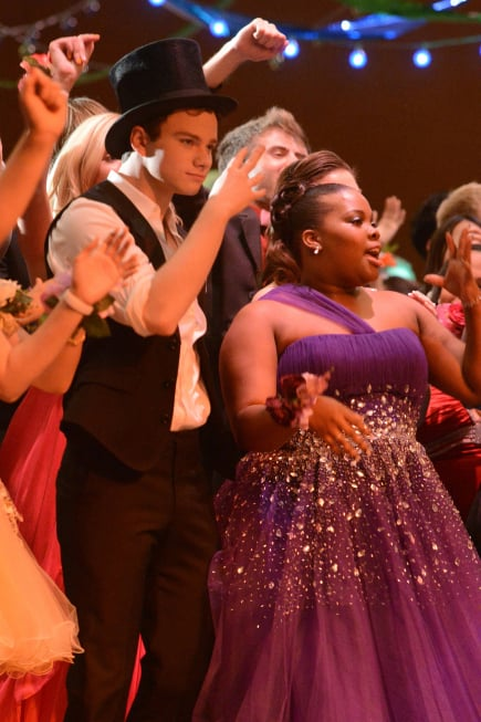Chris Colfer and Amber Riley in Glee.  Photo courtesy of Fox