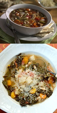 Minestrone Soup Two Ways — Beginner and Expert