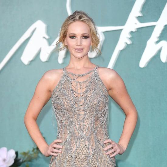 Jennifer Lawrence Mother Premiere Versace Dress