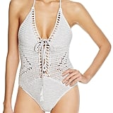 Suboo Crochet Halter One Piece Swimsuit